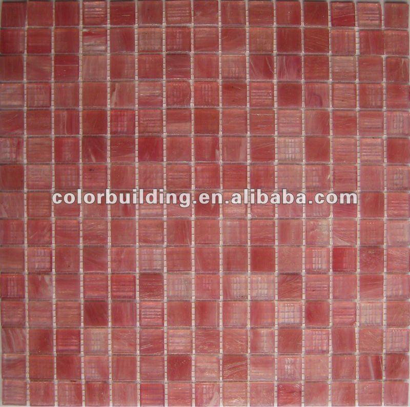 Rosa rossa mattonelle di mosaico di vetro per bagno parete mosaico ...