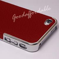 Чехол для для мобильных телефонов Deluxe Leather Chrome Hard Case Cover For iPhone 4 4S