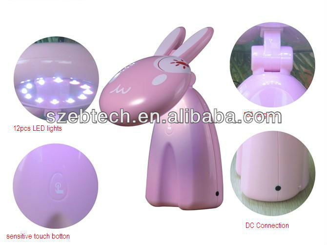 shenzhen rabbit shape eye protection table lamp, led battery table lamp,rechargeable lamp