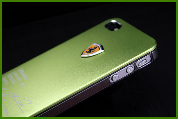 YPAC-P518 Plating Plastic Aluminum Case with logo For iPhone 5 5S