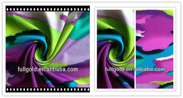 2014 and 2015 new product DTY printed jersey wholesale polyester cotton Fabric