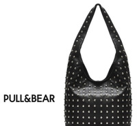 Детали и Аксессуары для сумок NEW women shoulder bags PULL&BEAR New Design Women Fashion Rivet Motorcycle Handbags PU Leather Model no.YW172