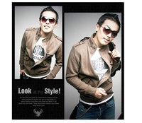 New Casual Fashion Trend Styling Men's Jacket coat Korea Slim Sexy Sweatshirt 4 Colors M,L,XL,XXL, Free Shipping1414-B20
