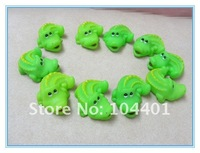 20 pieces Lovely Baby Bathing Bath Toys Rubber Squeaky Race  Light Green  Mini Crocodile
