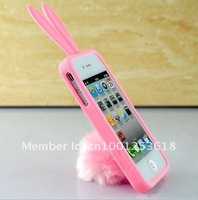 Cute and new Rabito Rabbit Rubber Case Cover For iPhone 4 4S pink