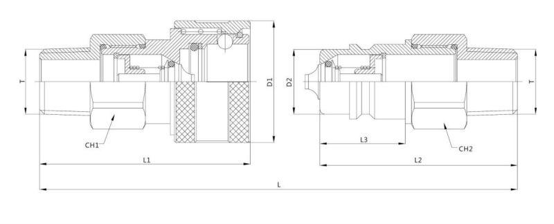 ZJ-YBA Close Type Hydraulic Quick Coupling (ISO7241-1B)