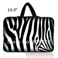 """Потребительская электроника 13""""-13.3"""" inch rainproof laptop bag briefcasenotebook laptop sleeve case handle bag for Macbook air pro retina-423H-Zebra"""