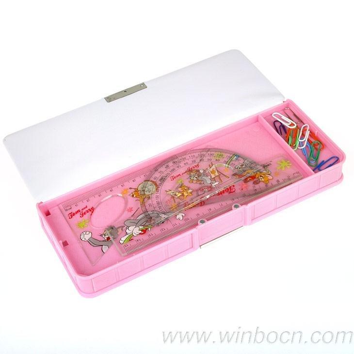 students plastic PVC pencil box pencil case