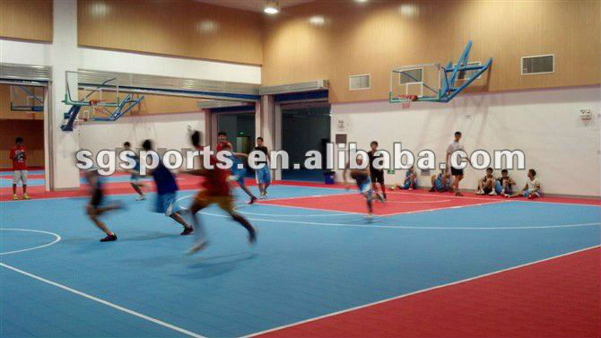 factory direct interlocking basketball flooring/basketball court solutions/synthetic basketball court durable