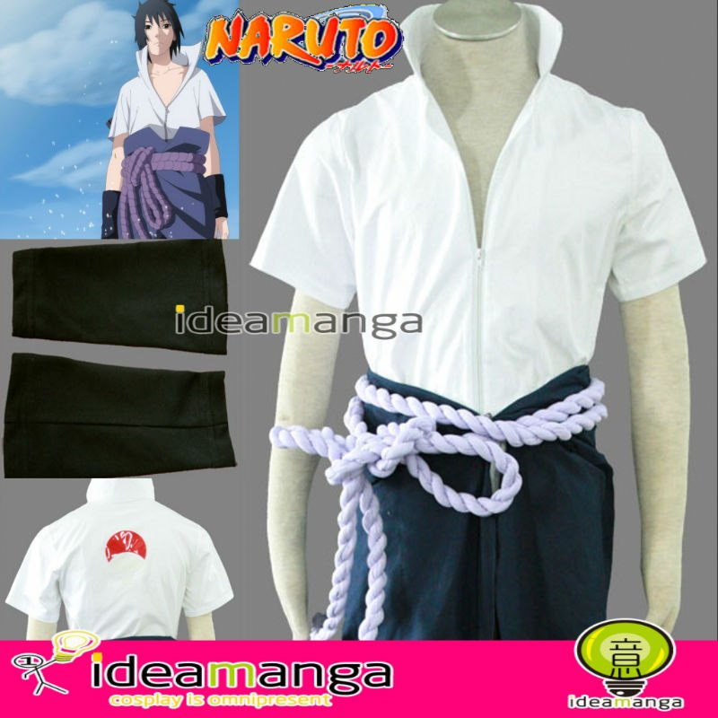 Manga Amime NARUTO Shippuden Uchiha Sasuke Yong 4th Men's Cosplay  Costume Male halloween party  Any Size  Freeshipping&Freegift