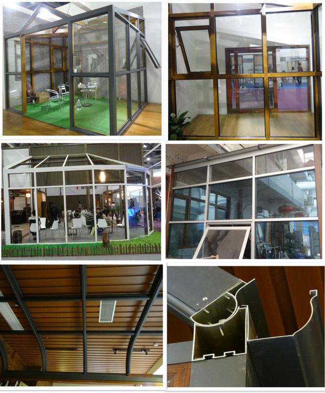 High quality tempered glass room,aluminium glass garden room