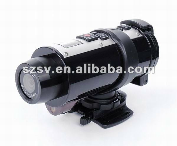 Video camera for Extreme Sports/Car Racing with 10m waterproof 720P HD digital sport action camera