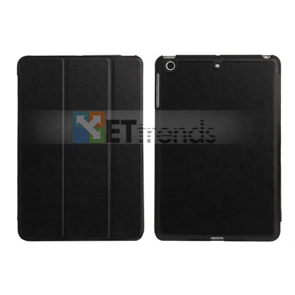 For iPad Mini 2 Flip Cover Case,Ultra-thin Smart Tri-Fold Wake/Sleep Stand PU Leather Flip Cover Case for iPad Mini 2