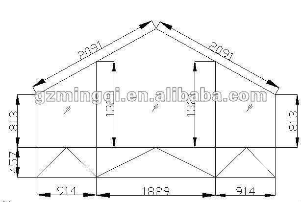Pvc octogonale voûtée fenêtre cadre