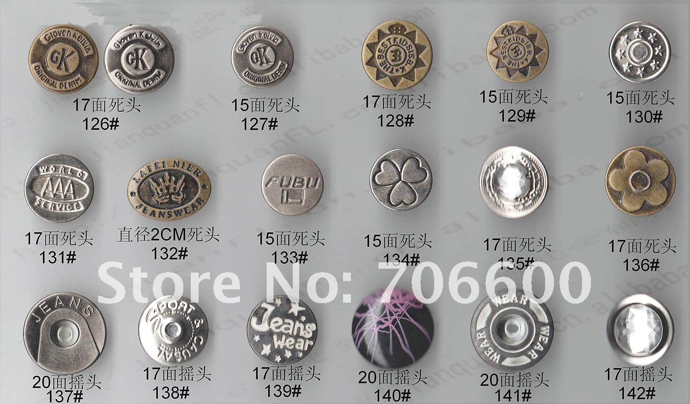 Metal Jeans Buttons Jeans Buttons,many Colors