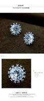 Итальянский rigant Весна Стад Серьги brinco с swarovski crystal stellux кубический цирконий два цвета #rg86524