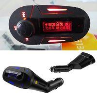 Автомобильный mp3 плеер с идеальным высокое качество стерео беспроводной fm передатчик и usb sd mmc слот 3.5 мм аудио разъем