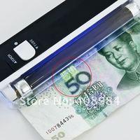 с номером отслеживания 5w портативный УФ ультра фиолетовый привело свет факела лампа Билл id карты банкноты валюта деньги детектор