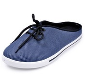 Мужские тапочки Trend of men's summer canvas sandals slippers fashion tide in baotou drag half lazy dragging shoes men shoes cool slippers