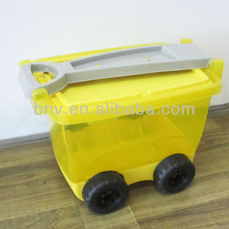 storage box on wheels with handle 1