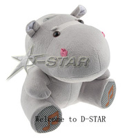 Аудио колонка Cute Cartoon Hippo Plush Toy Speaker Mini Portable Speaker for MP3 MP4 Mobile Phone PC Laptop U Disk SD Card