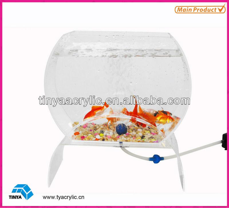 2013 New Design Mini Clear Acrylic Plastic Fish Tank