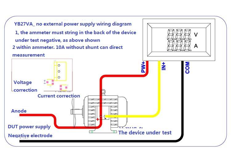 Dc Voltage Ammeter Digital Dual Display Meter Wholesale Free Shipping Dc Voltage Ammeter Digital Dual Display Meter 100a 1pcs 100a Shunt On Shopmadeinchina Com