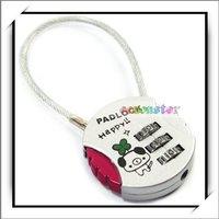 Мебельный замок Locks, Padlock, Copper Wire 3 Digit Resettable Combination Round New Silver B10239