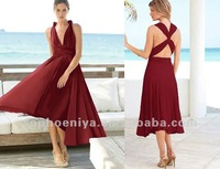 Flirty Multi Way Wrap Convertible Infinity Swing Party Dress Patterns for bridesmaids dresses