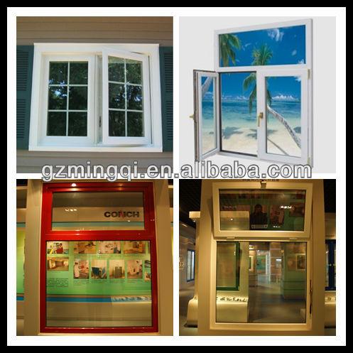 60 series PVC modern house window grill design, View house window ...