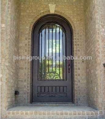 Bisini Wrought Iron Arch Single Front Door Bg90104 Buy