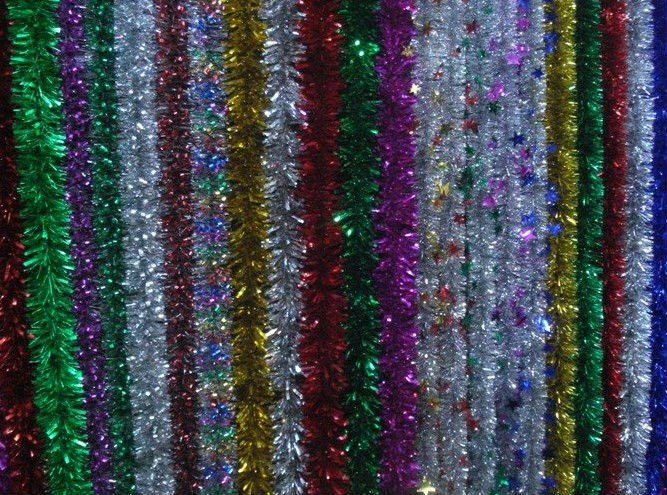 Indoor decoration/Color tinsel dexoration/ christmas gifts