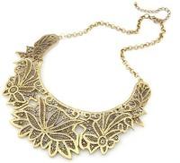 Колье-ошейник City Girl $ Western Style Vintage Luxuriant Delicate Metal Gold/Silver Necklace CG2529