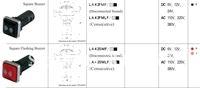 LA42SMF quadrate led flashing buzzer