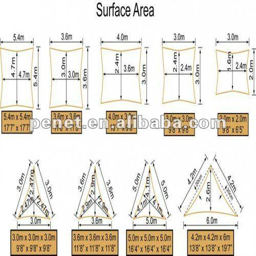 Polyester sun shade sail/sail shade CS-SS-0020