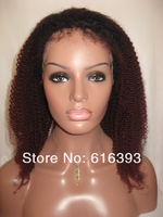 "On Sales: Fashion Wigs Ashanti 18"" #1bT99J 100% Indian Remy Human Hair Lace Rront Wigs-two tone lace wig"
