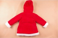 Пуховик для девочек Coat sweater jacket Hooded Sphere Christmas dress Thick sherpa brand children's clothing