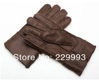 Мужские перчатки 2013 hot selling 100% genuine leather men's gloves winter men' mitten fashion warm male's gloves