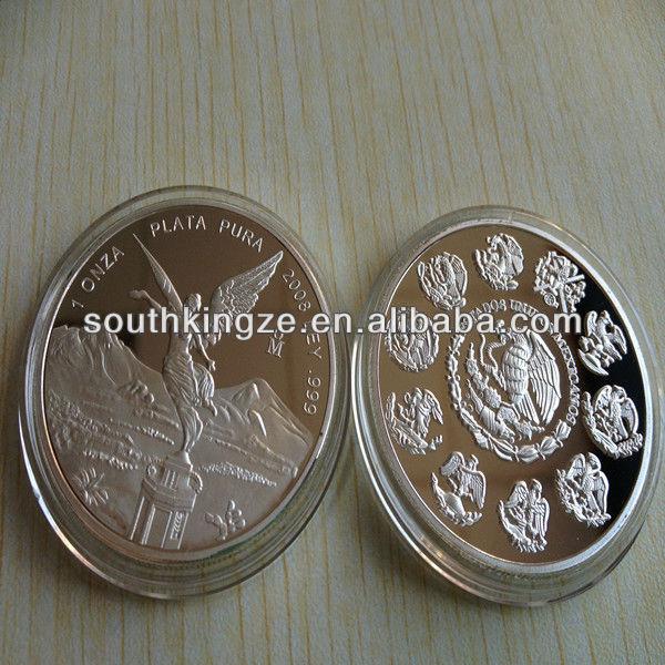 Mexico Silver 1 OZ LIBERTAD UNA ONZA de PLATA PURA . 999 Fine Silver