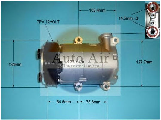 CAR AC compressor VS16 PV7 for Ford Transit 6C1119D629BE 1379474 6C1119D629BC 6C1119D629BD