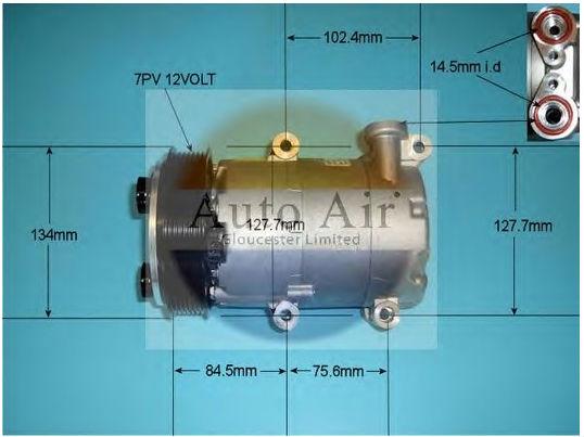 CAR AC compressor VS16 PV7 for Ford Transit 6C1119D629BE 1379474 6C1119D629BC 6C1119D629BD