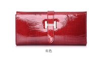 4pcs 2012New Arrival Pattern  Genuine Leather Women's Long Wallets ladies Fashion Purse Clutch Bag HJ1