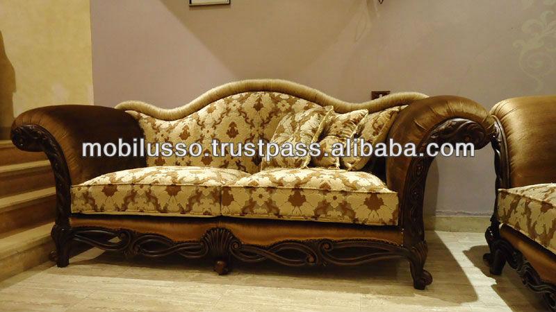 M veis de luxo cl ssico conjunto de sof para sala de - Sofas clasicos de tela ...