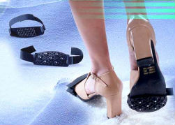 블랙 안티- 슬립 쌍 얼음 눈 신발 스파이크 등반이 그립