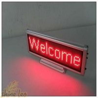 Электронные табло DHL/EMS LED Desk Sign With Size 76mm*222mm*18mm Red Color 5PCS/LOT