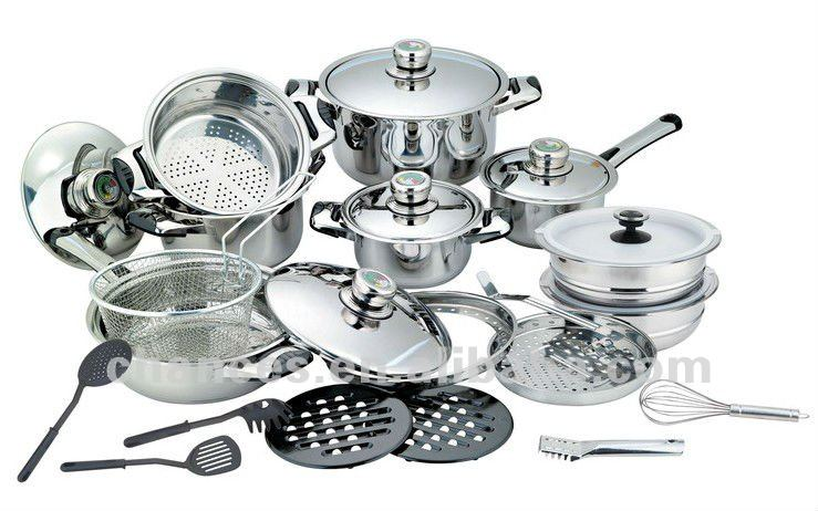 27 Pcs Induction Bottom Stainless Steel Cookware