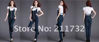 Женский джинсовый комбинезон 2012 Korean version, the new denim overalls women the Slim overalls tide