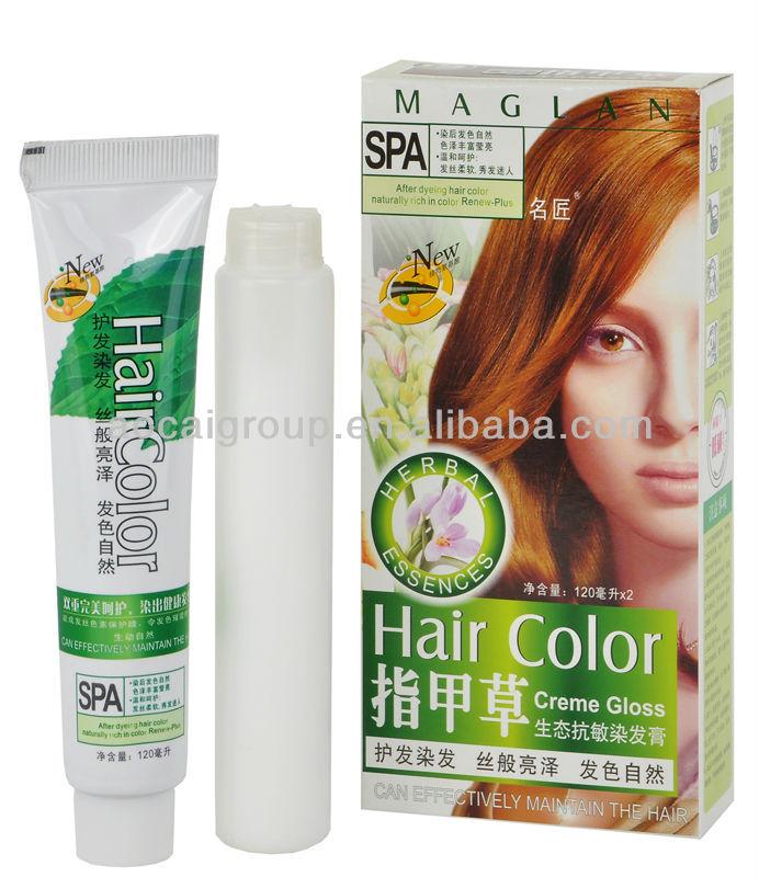 Ammonia Free Permanent Cover Gray Dye Henna Herbal Black Hair Dye