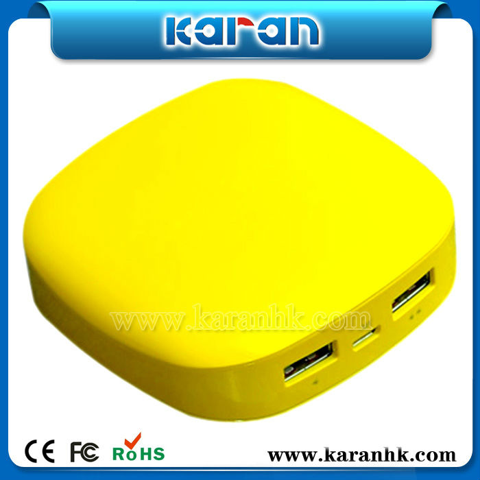 Factory deft plastic Karan Power Bank PB60C 6000mah charge phone without charger for topcon