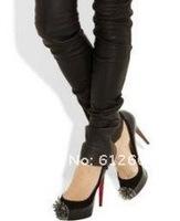 Туфли на высоком каблуке Hot sale women nube Spikes head high heels red Sole shoes pumps